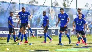 Jugadores del Porto durante un entrenamiento