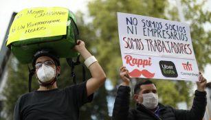 Trabajadores en protesta