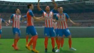 Jugadores del Rebaño celebran un gol