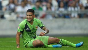 Sebastián Vegas durante un partido con Morelia