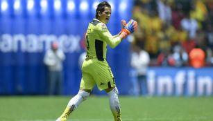 Sebastián Sosa en partido de la Liga MX