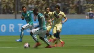 León vs América en partido de la eLiga MX