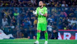 Marcos Díaz, durante un juego de Boca Juniors