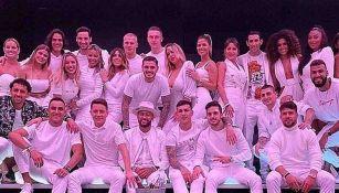 Última fiesta de Neymar con sus compañeros del PSG