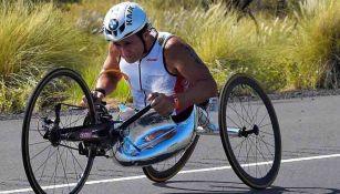 Alex Zanardi, durante una prueba de ciclismo