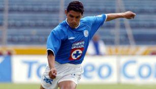 Norberto Ángeles en partido con Cruz Azul