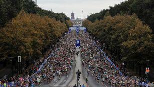 Panorámica de una de las ediciones previas del Maratón de Berlín