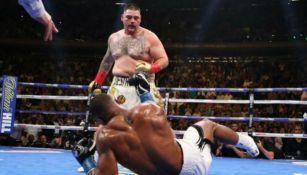 Andy Ruiz en su pelea ante Anthony Joshua