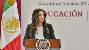 Ana Guevara durante un evento de Conade