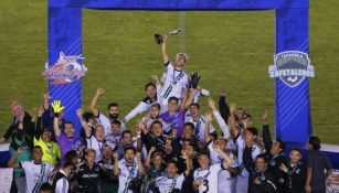 Cafetaleros celebrando su título en 2018