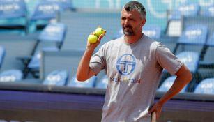 Goran Ivanisevic en un entranamiento