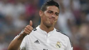 James Rodríguez en acción con Real Madrid
