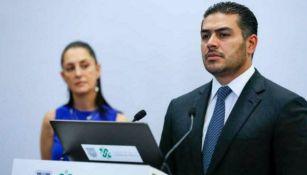 Omar García Harfuch: El Secretario de Seguridad capitalina recibió la visita de Claudia Sheinbaum