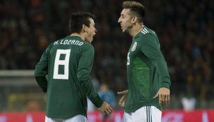 Héctor Herrera y Chucky Lozano con Selección Nacional