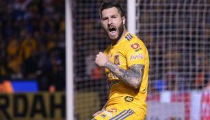 El goleador francés durante un duelo en la Liga MX