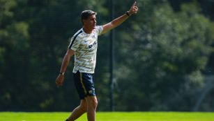 Míchel González en un entrenamiento