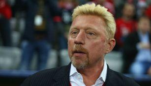 Boris Becker en presentación