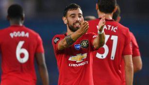 Manchester United: Doblete de Bruno Fernandes le dio la victoria ante Brighton