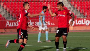 Jugadores de Mallorca celebrando un gol ante Celta