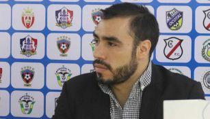 Luis Rosas, durante una conferencia de prensa