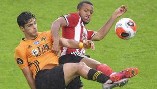 Raúl Jiménez: Wolves perdió con gol de último minuto ante el Sheffield United