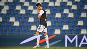 Cristiano Ronaldo se lamenta en un juego de Juventus