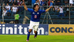 César Villaluz como jugador de Cruz Azul