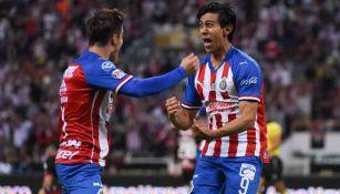 JJ Macías en celebración de gol