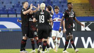 Milan: Doblete de Zlatan Ibrahimovic guió victoria ante Sampdoria