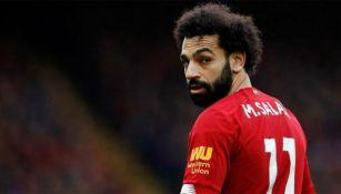 Mohamed Salah en un partido con Liverpool