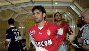 Rafa Márquez en un partido con Monaco