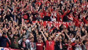 Seguidores del Bayern Munich en un compromiso de Bundesliga