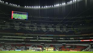 El alumbrado del Estadio Azteca
