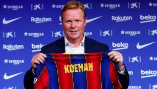 Ronald Koeman en su presentación con Barcelona