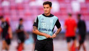 Coutinho durante un entrenamiento con Bayern Munich