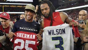 Wilson y Sherman intercambian jersey
