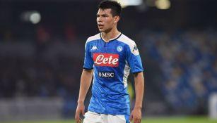 Lozano en partido con Napoli