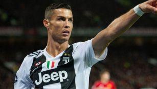 Criatiano Ronaldo en juego con la Juventus