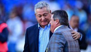 Vucetich y Herrera previo a un encuentro