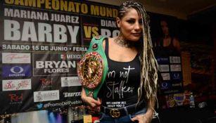 'La Barby' Juárez previo a una pelea