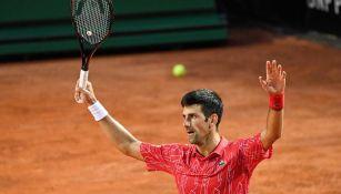 Novak Djokovic celebra el triunfo