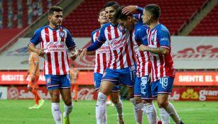 Tapatío FC en festejo de gol