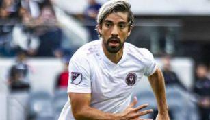 Rodolfo Pizarro en juego con el Inter Miami