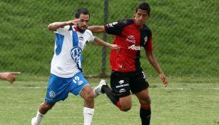 Isidro Sánchez durante un partido con Puebla