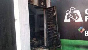 Así quedó la bodega después del incendio