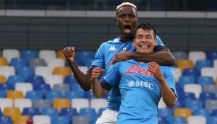 Hirving Lozano celebrando gol ante Genoa