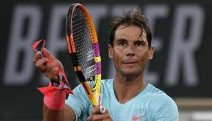 Rafael Nadal festeja victoria sobre Egor Gerasimov