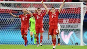 Jugadores del Bayern en festejo