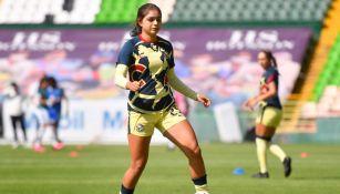 Jana Gutiérrez previo a un partido con América Femenil
