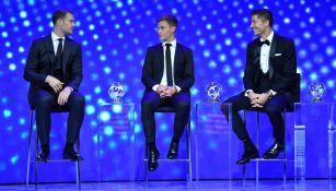 Neuer, Kimmich y Lewandowski, en la gala de la UEFA